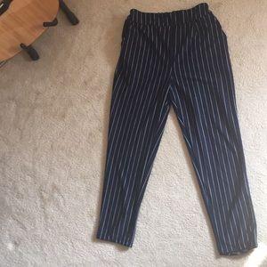 Shein Pinstripe cropped trouser pants